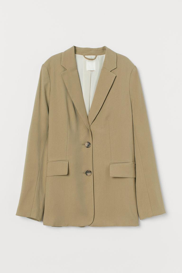 H & M - 嫘縈混紡外套 - 綠色