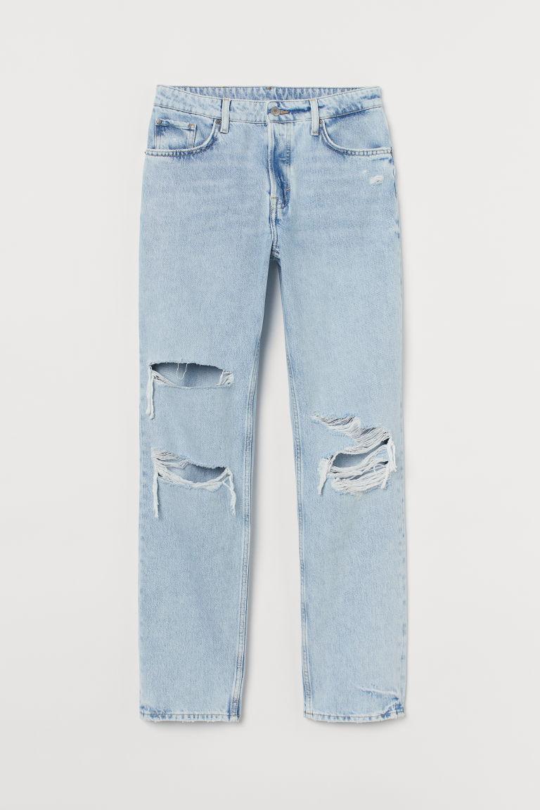 H & M - 90年代男友牛仔褲 - 藍色
