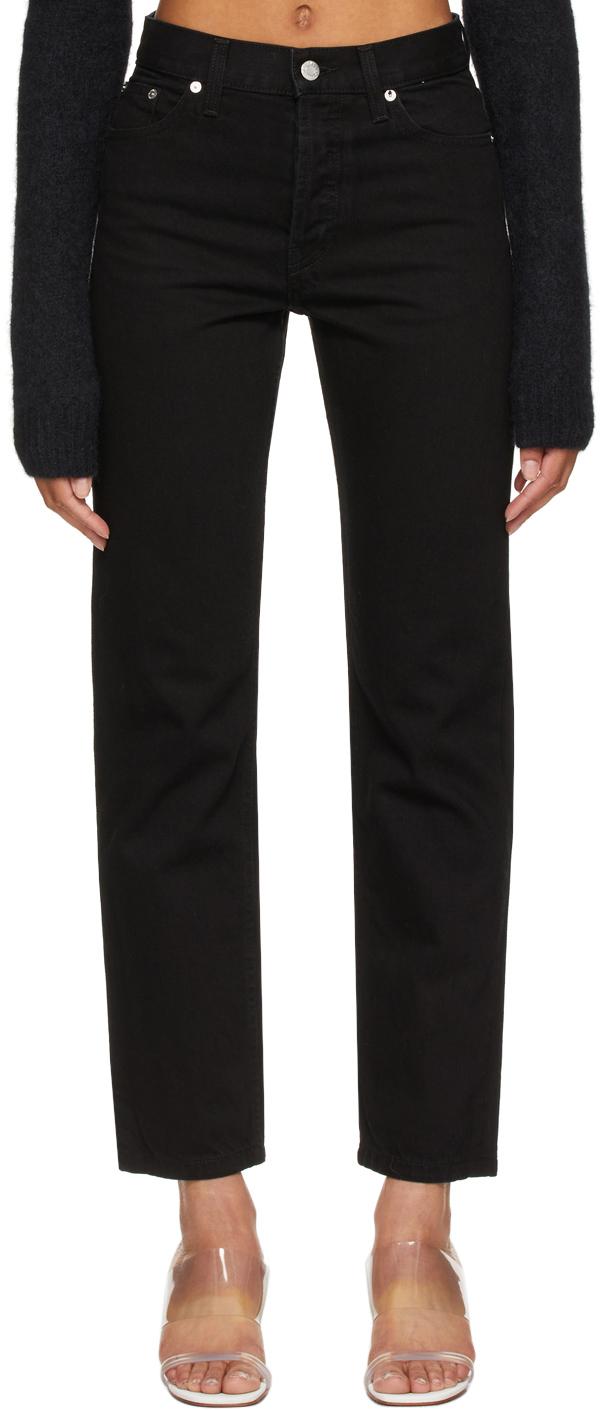 Helmut Lang 黑色直筒牛仔裤