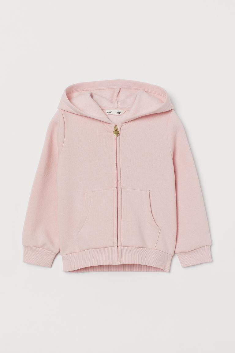 H & M - 拉鍊連帽外套 - 粉紅色