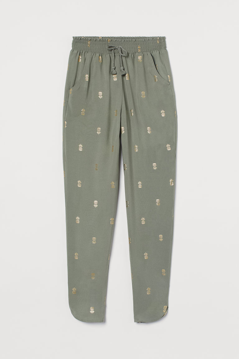 H & M - 長褲 - 綠色