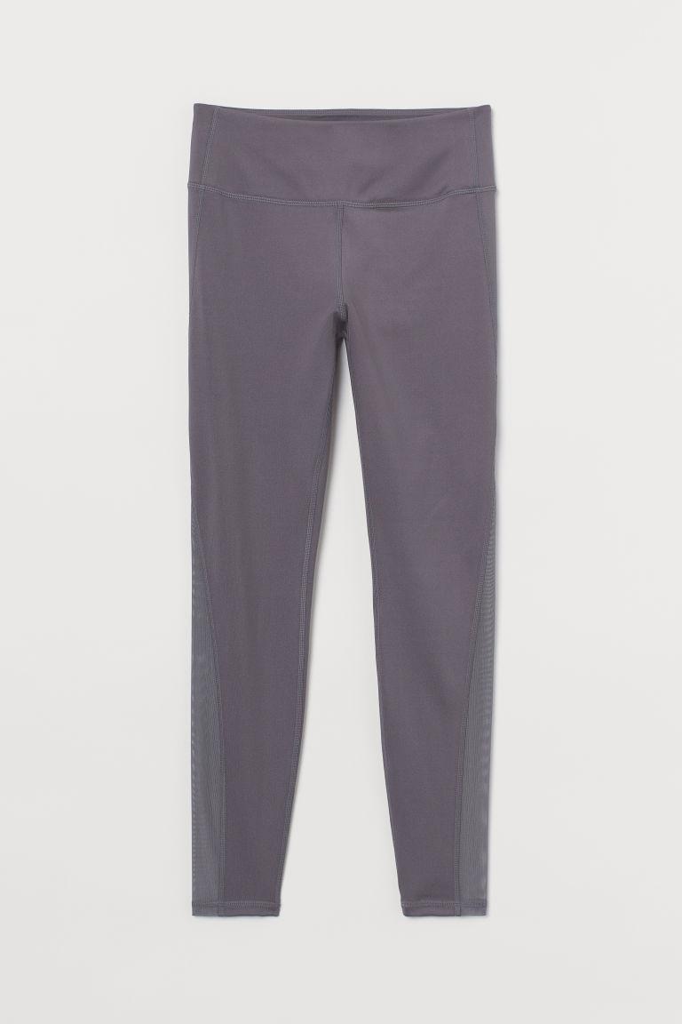 H & M - 美臀緊身運動褲 - 藍色