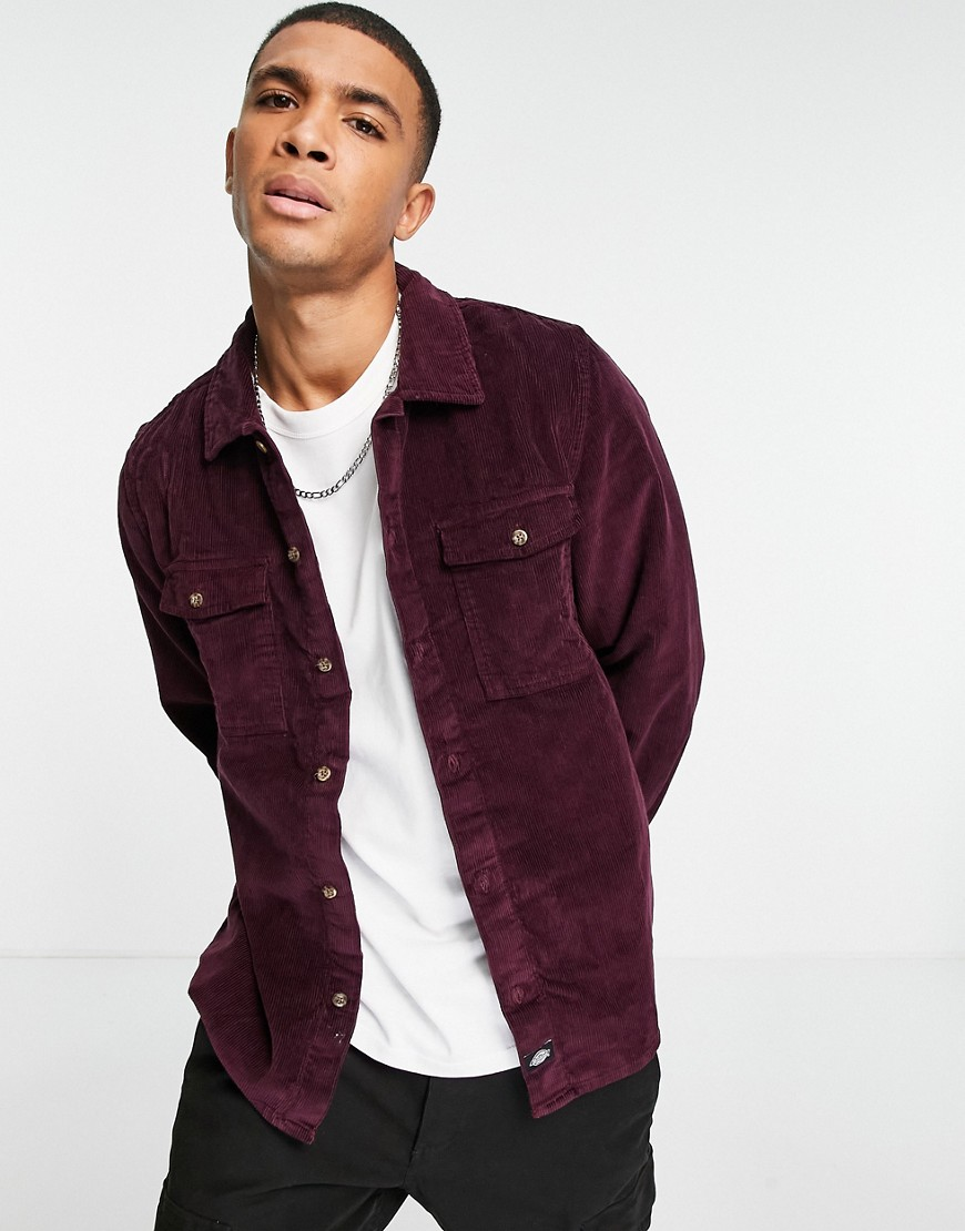 Dickies Fort Polk shirt in marron-Red