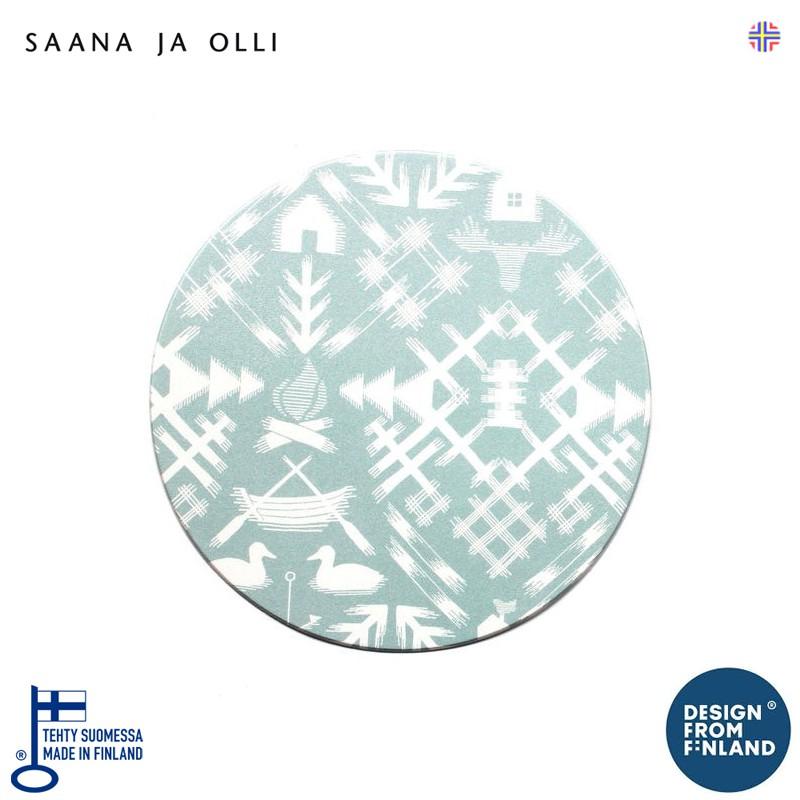 【北歐印象】芬蘭進口Saana & Olli圓形鼠標墊 北歐Top10家居設計