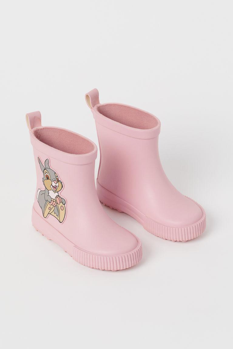 H & M - 圖案威靈頓雨靴 - 粉紅色
