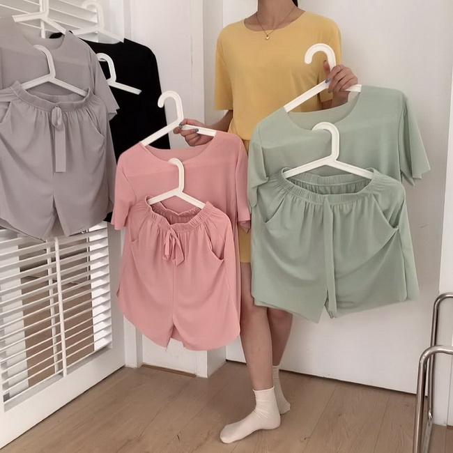 FOFU-兩件套軟軟套裝寬鬆T恤短褲休閒兩件套女套裝【08SG05645】