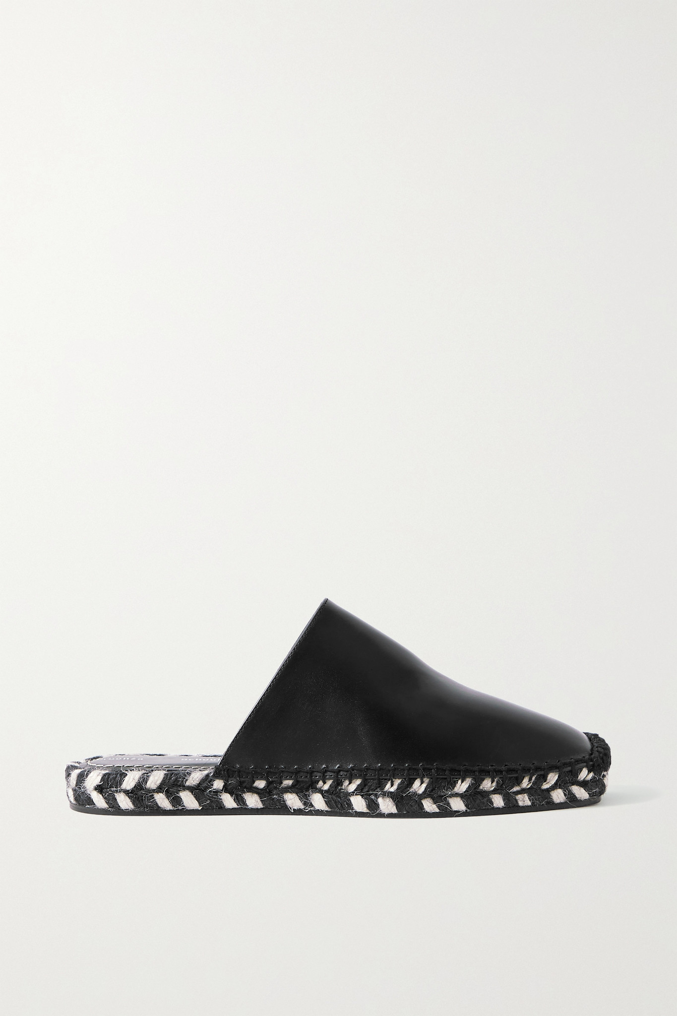 PROENZA SCHOULER - 皮革麻底鞋 - 黑色 - IT40