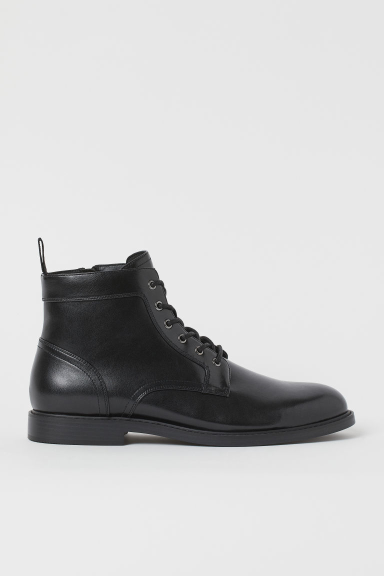 H & M - 側拉鍊靴 - 黑色