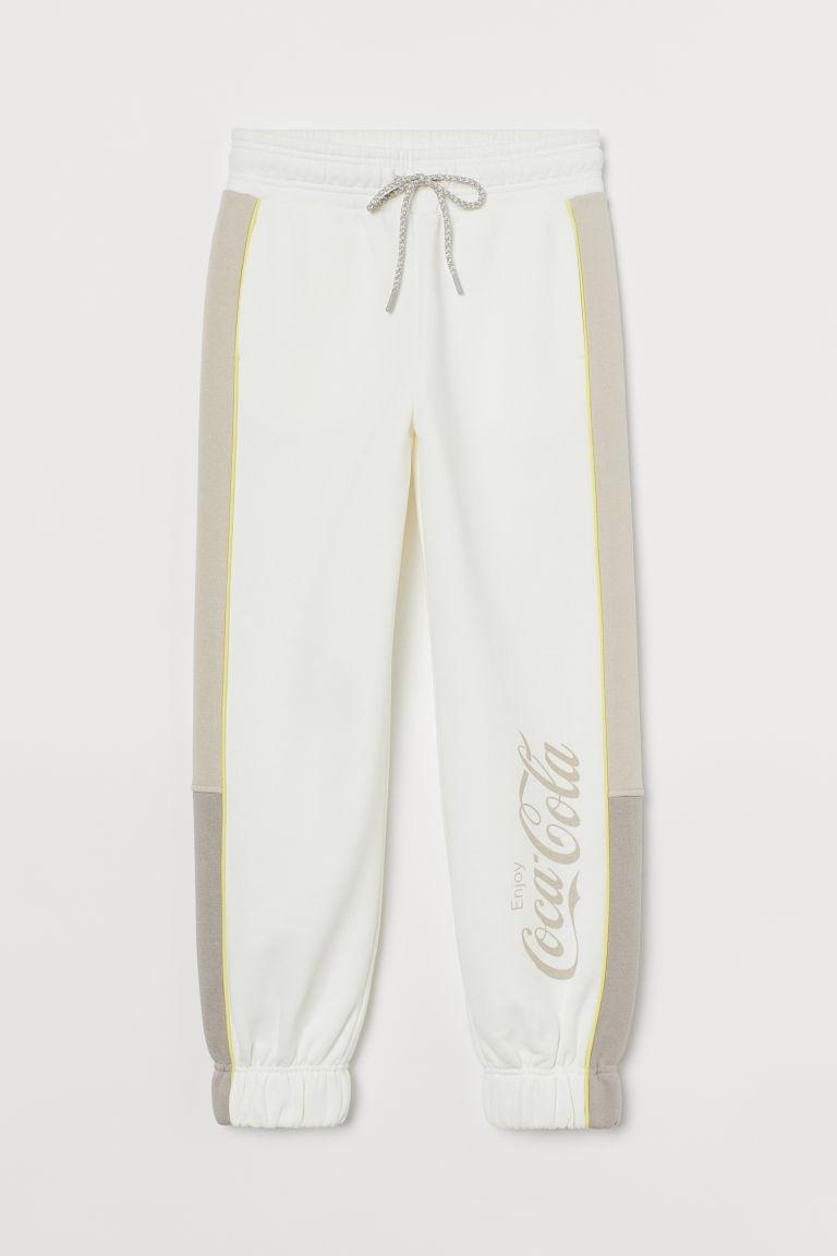 H & M - 高腰運動長褲 - 白色