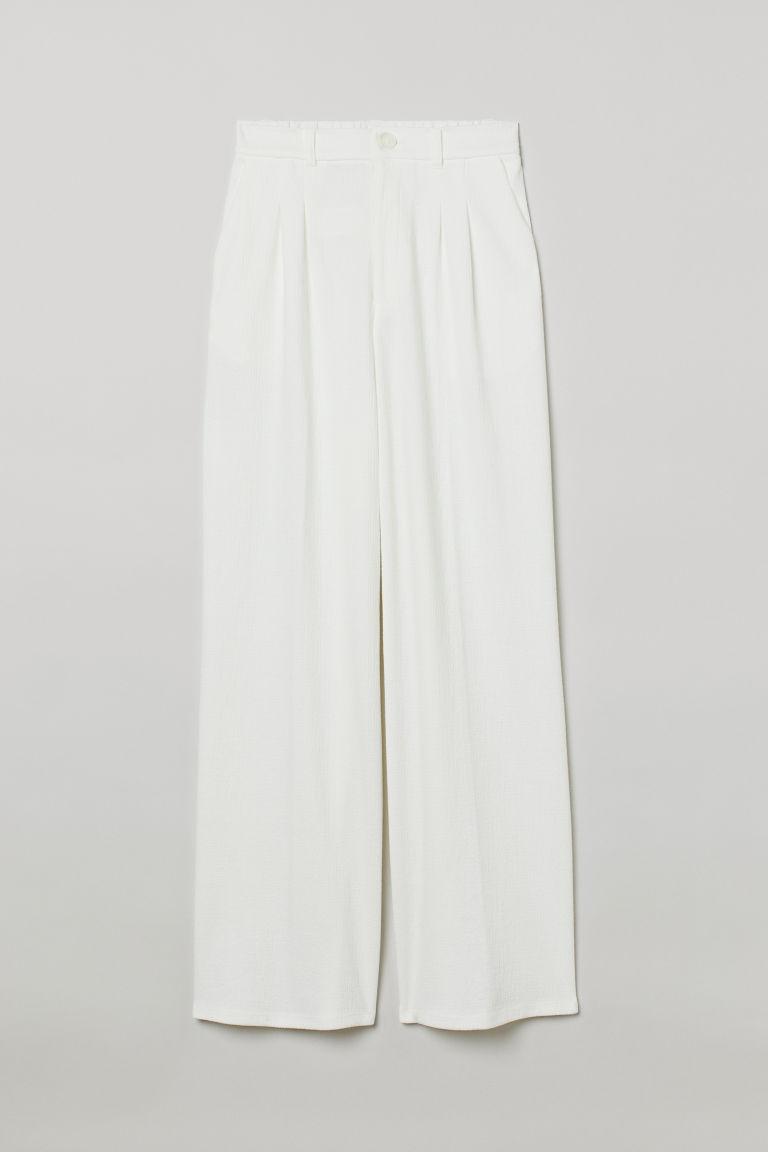 H & M - 寬管褲 - 白色