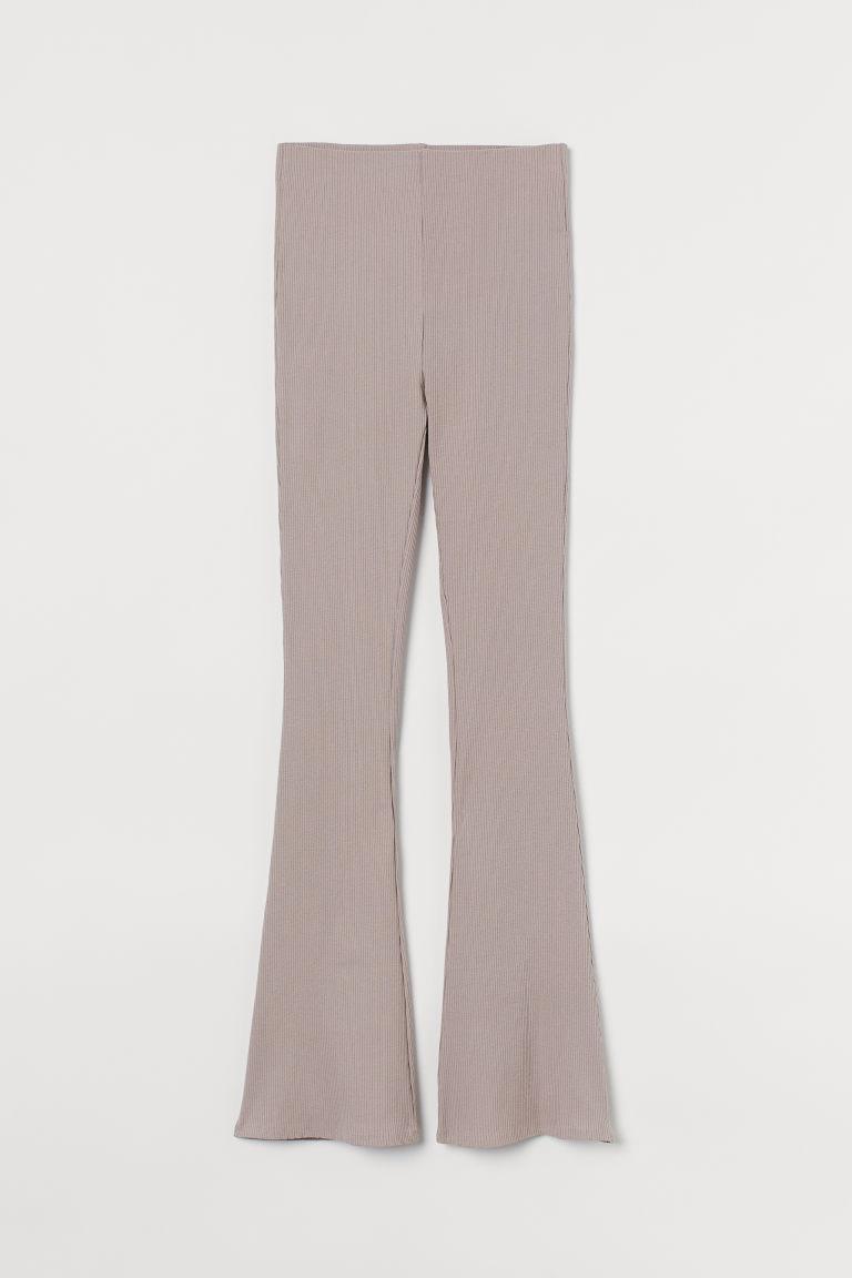 H & M - 羅紋內搭褲 - 褐色