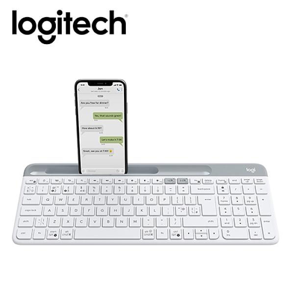 【Logitech 羅技】K580 超薄跨平台藍牙鍵盤 珍珠白 【贈純水柔濕巾】