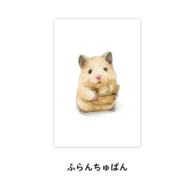 《助六の日常》明信片-法國麵包
