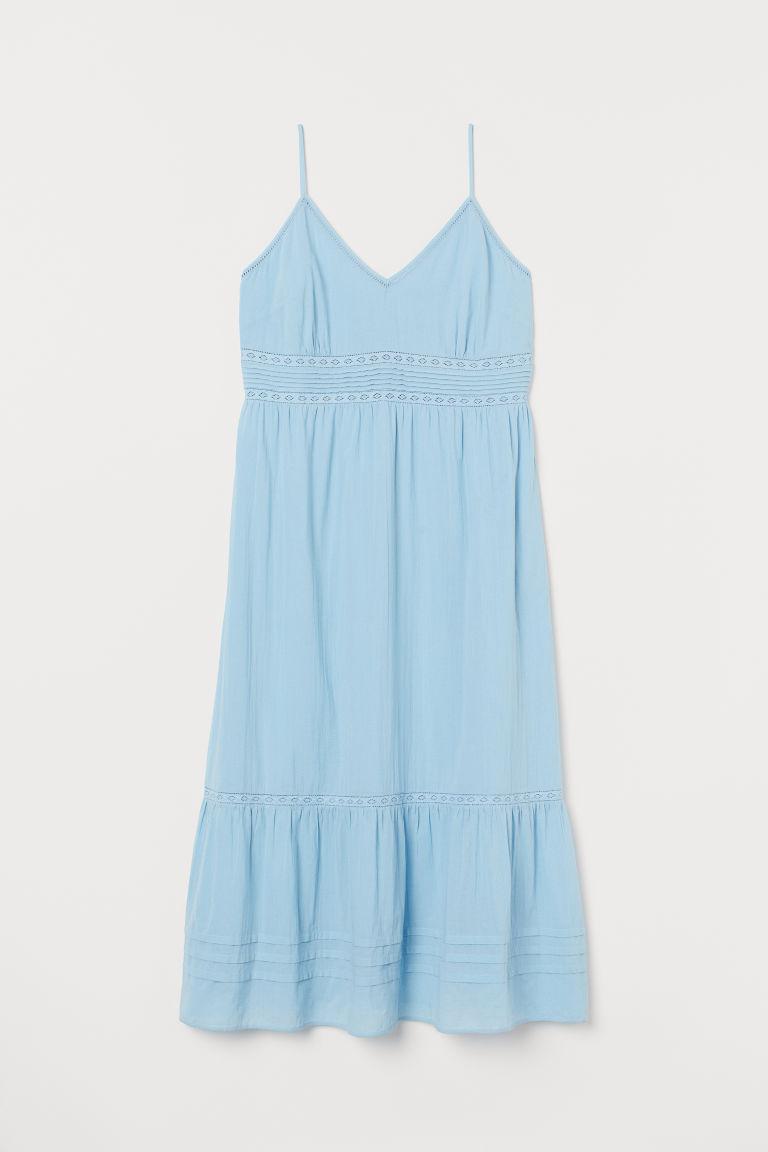 H & M - H & M+ 蕾絲長洋裝 - 藍色