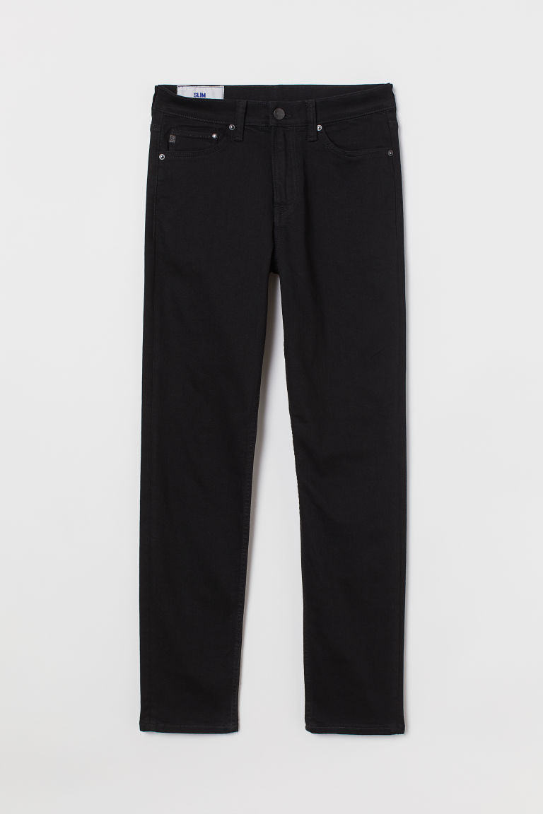 H & M - Freefit® 貼身牛仔褲 - 黑色