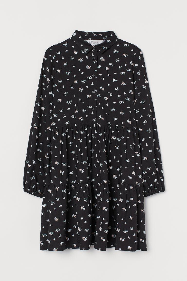 H & M - 襯衫式洋裝 - 黑色