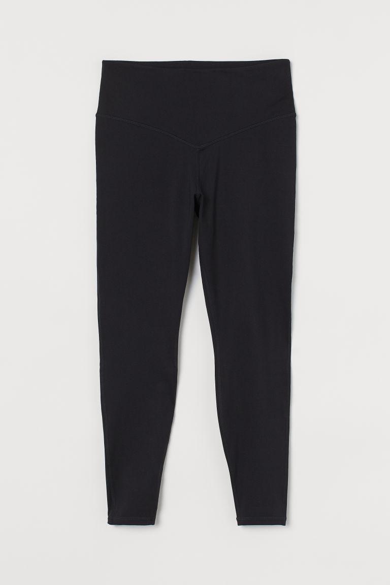 H & M - H & M+ 超高腰緊身褲 - 黑色