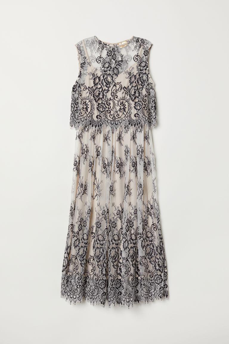 H & M - 無袖蕾絲洋裝 - 黑色