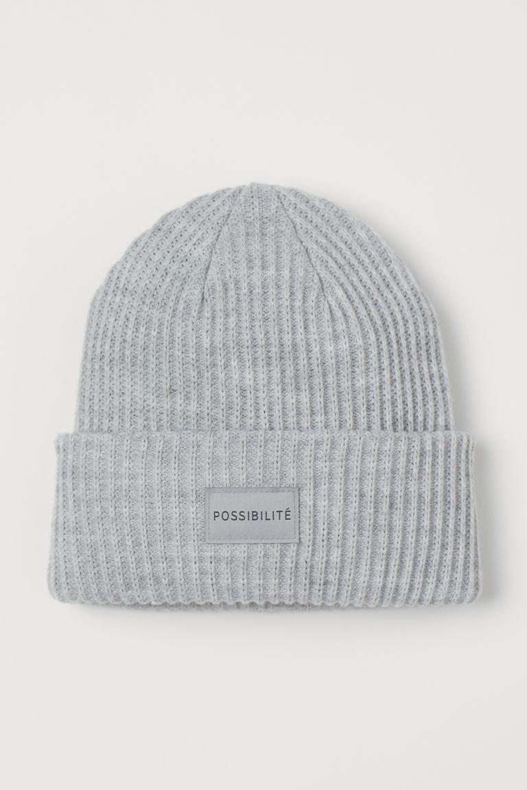 H & M - 羅紋帽 - 灰色