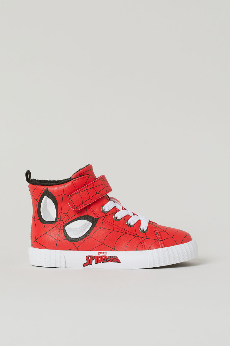 H & M - 圖案高筒鞋 - 紅色