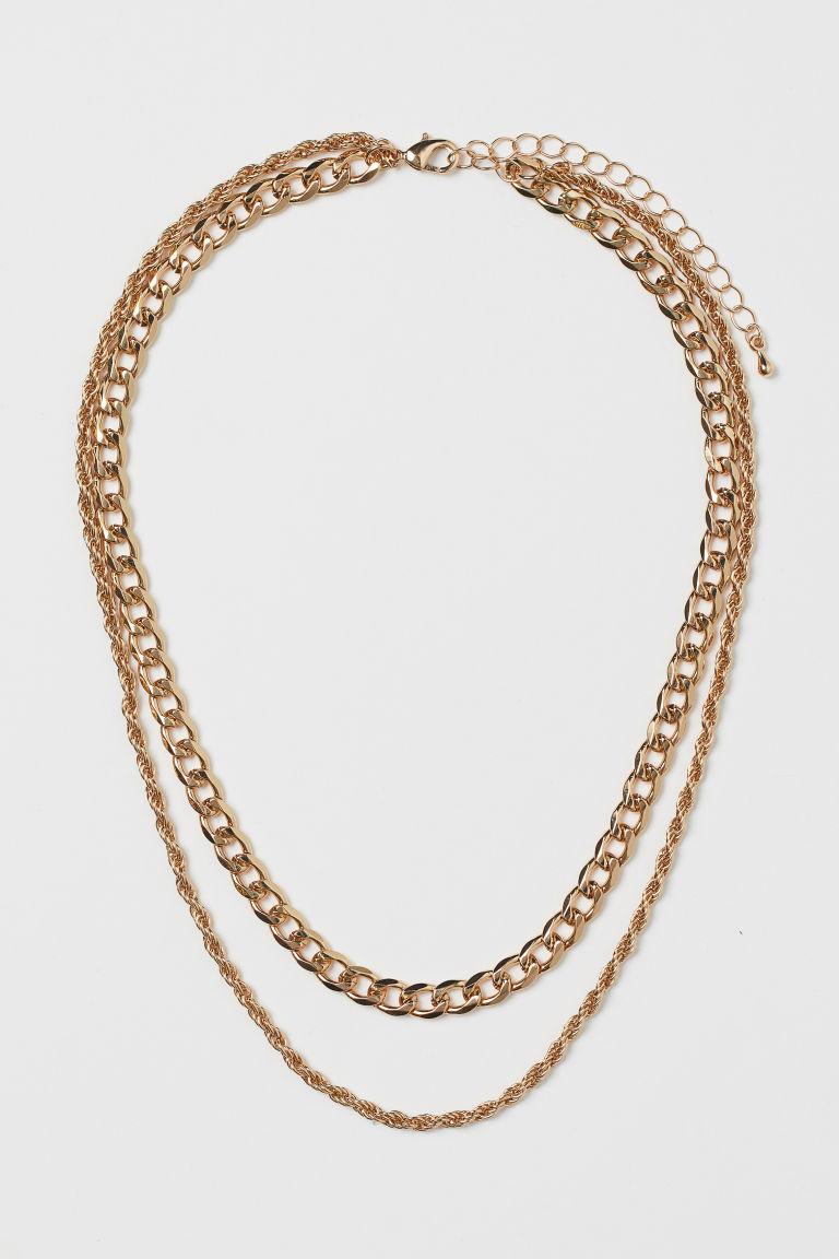 H & M - 雙股式項鍊 - 金色