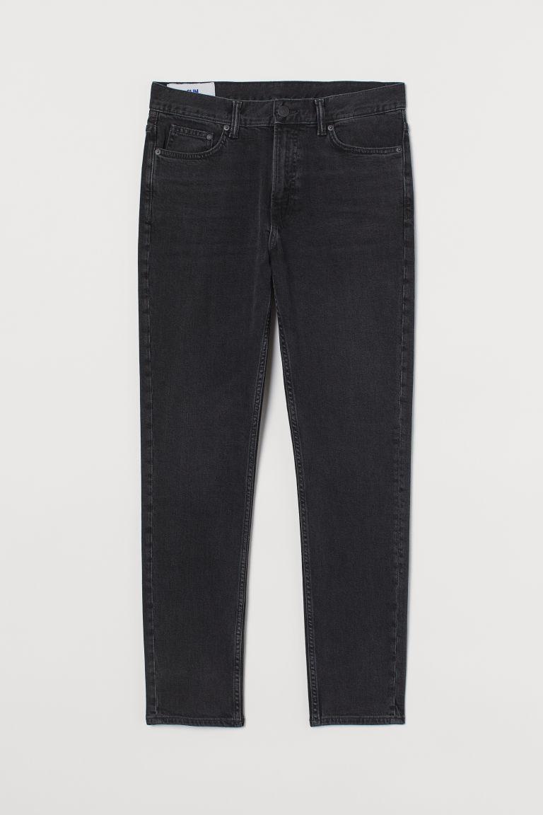 H & M - 貼身牛仔褲 - 黑色