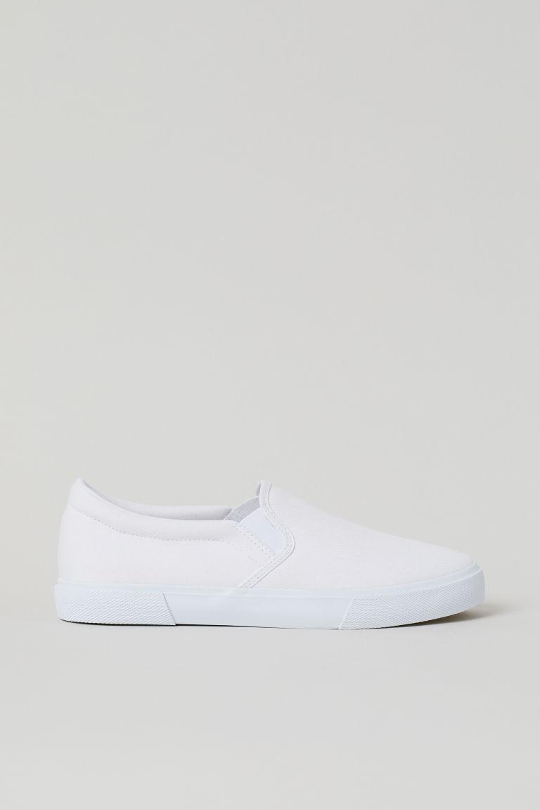 H & M - 懶人鞋 - 白色