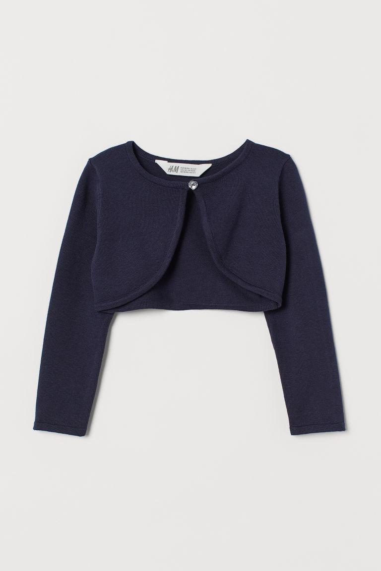 H & M - 精織小外套 - 藍色