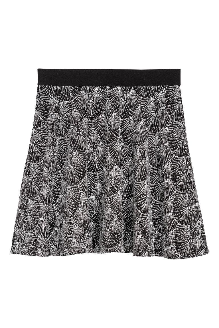 H & M - 滑板裙 - 銀色