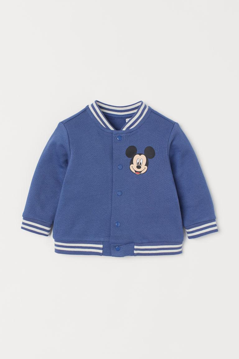 H & M - 圖案棒球外套 - 藍色