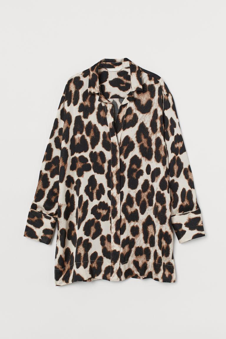 H & M - 印花女衫 - 米黃色