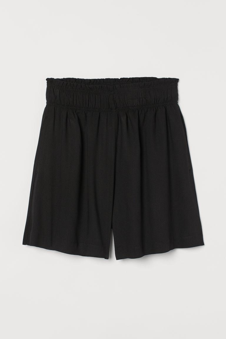 H & M - 高腰短褲 - 黑色