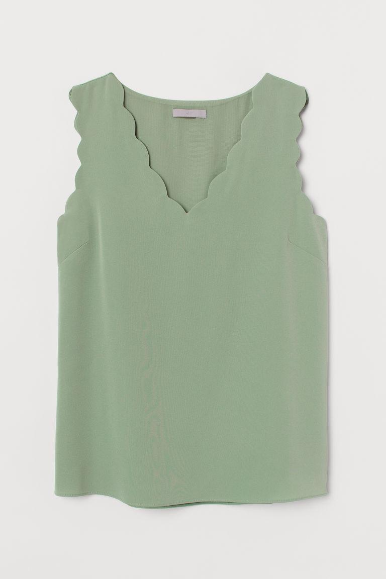 H & M - 無袖女衫 - 綠色