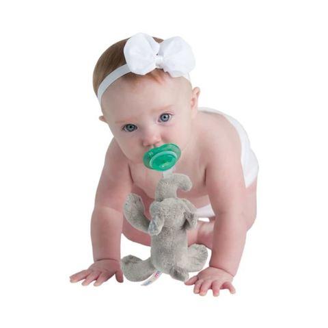 美國 nookums 寶寶可愛造型安撫奶嘴/玩偶-小灰象