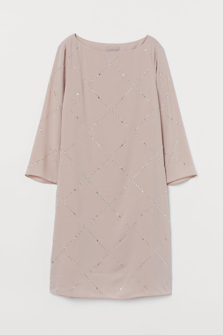 H & M - 水鑽洋裝 - 粉紅色