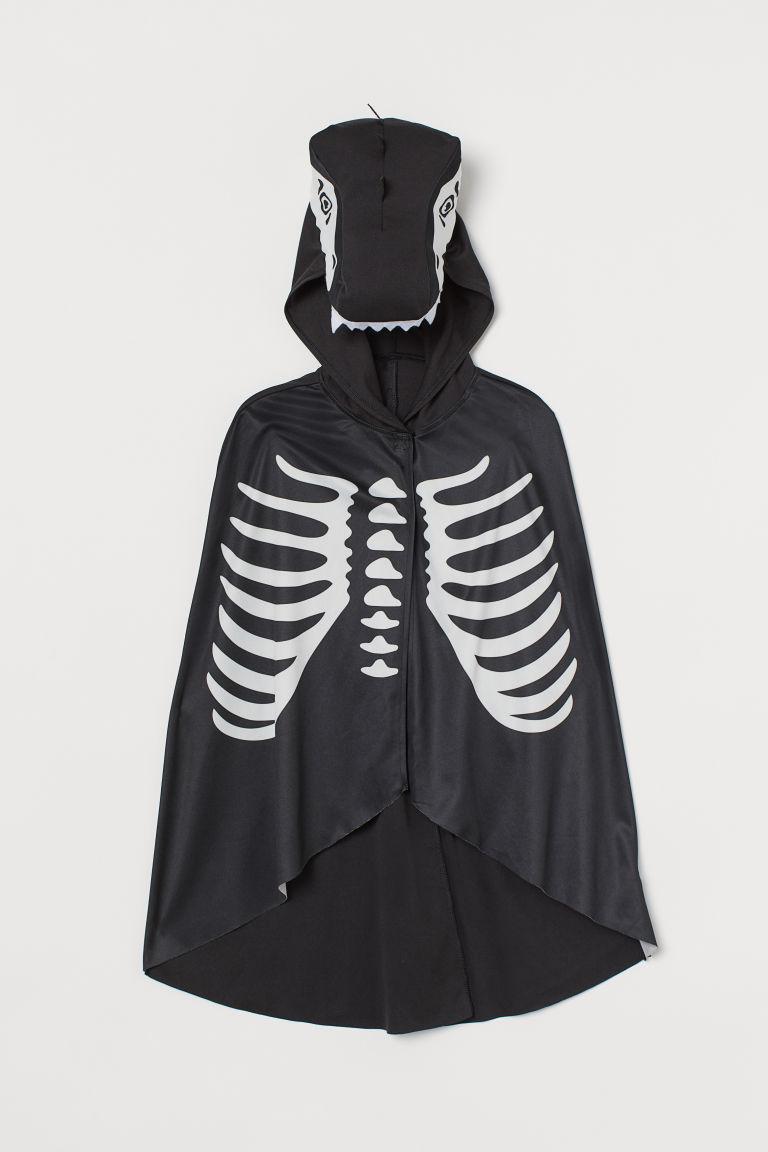 H & M - 化裝舞會連帽披風 - 黑色