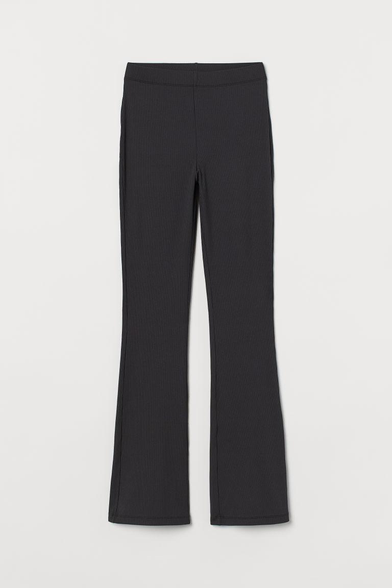 H & M - 羅紋爵士褲 - 黑色