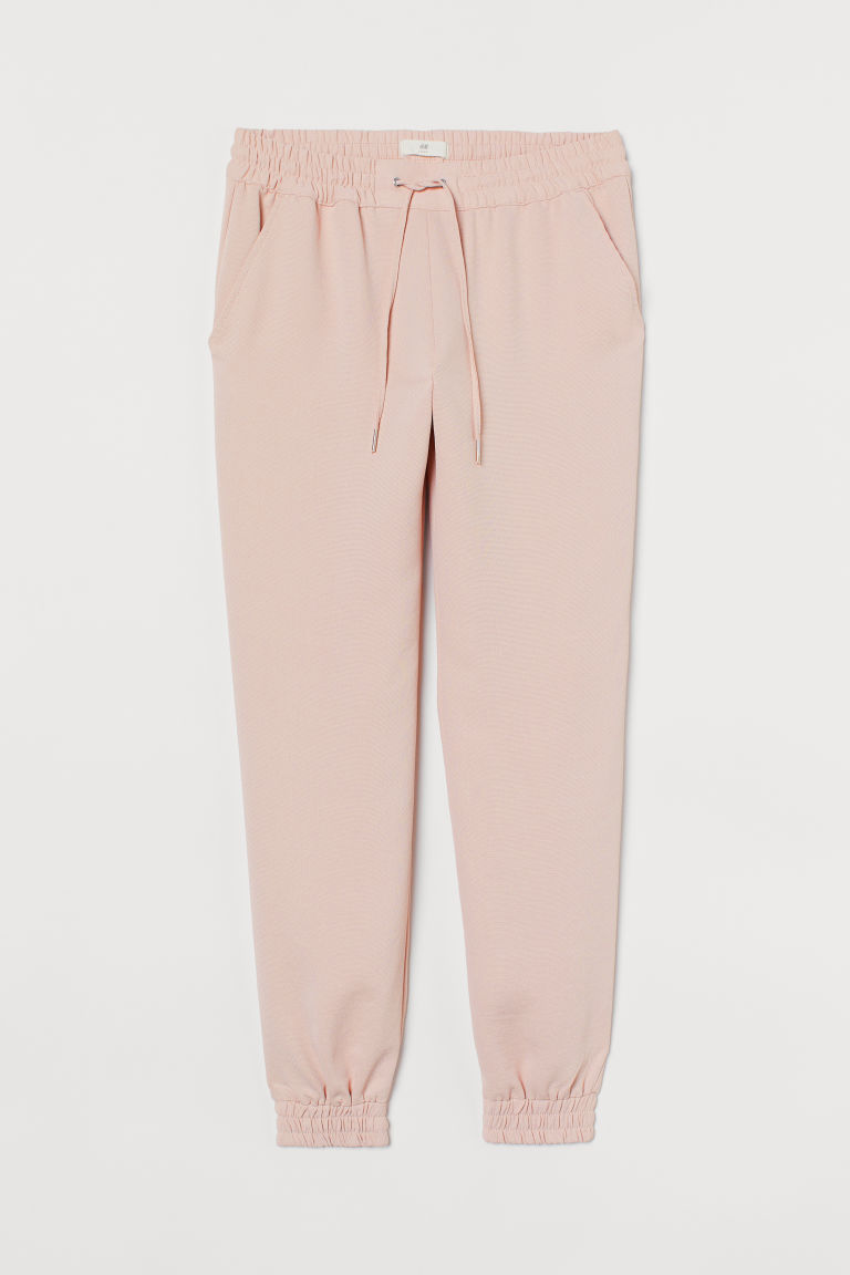 H & M - 鬆緊式長褲 - 粉紅色