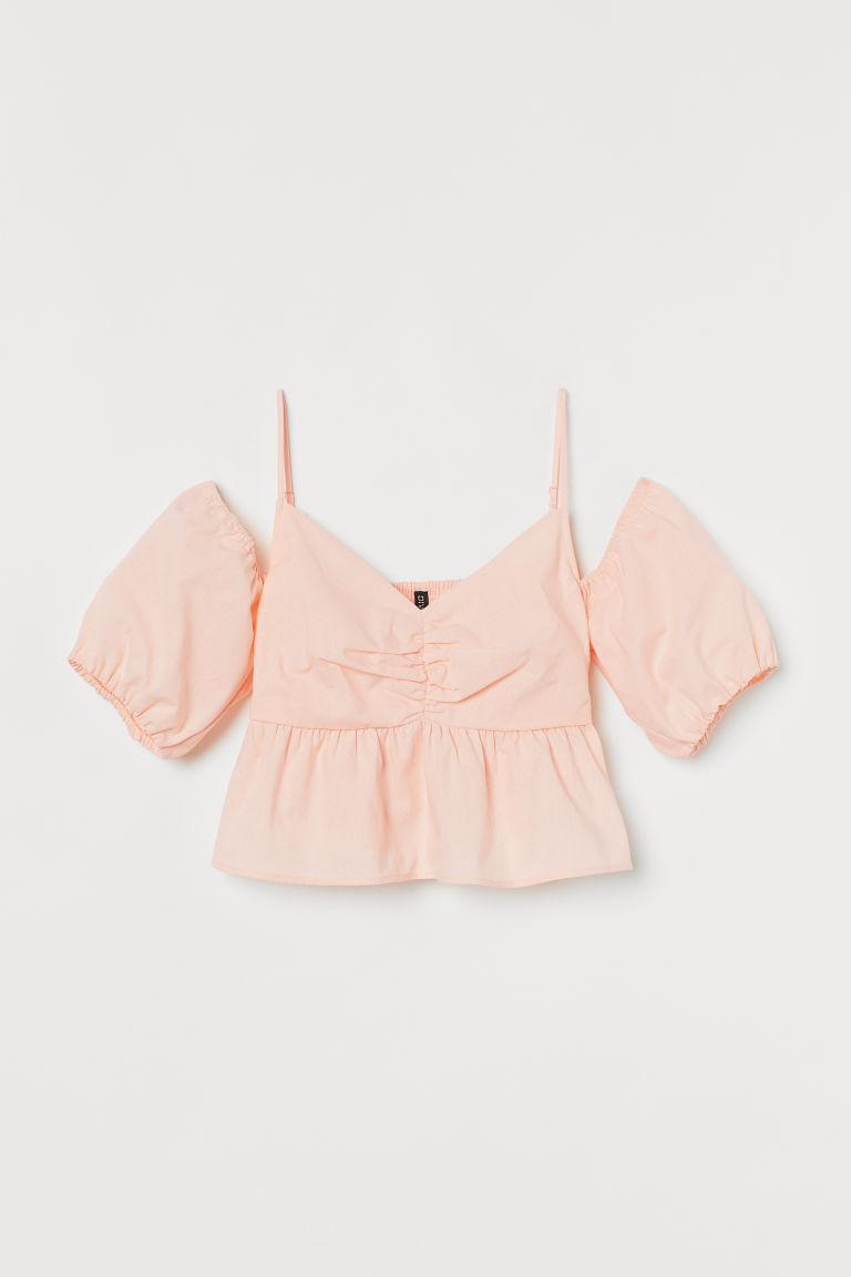 H & M - 露肩女衫 - 橙色