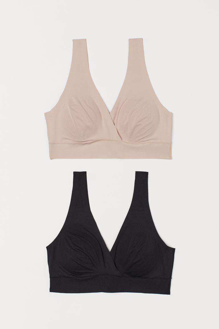 H & M - MAMA 2件入哺乳胸罩 - 橙色