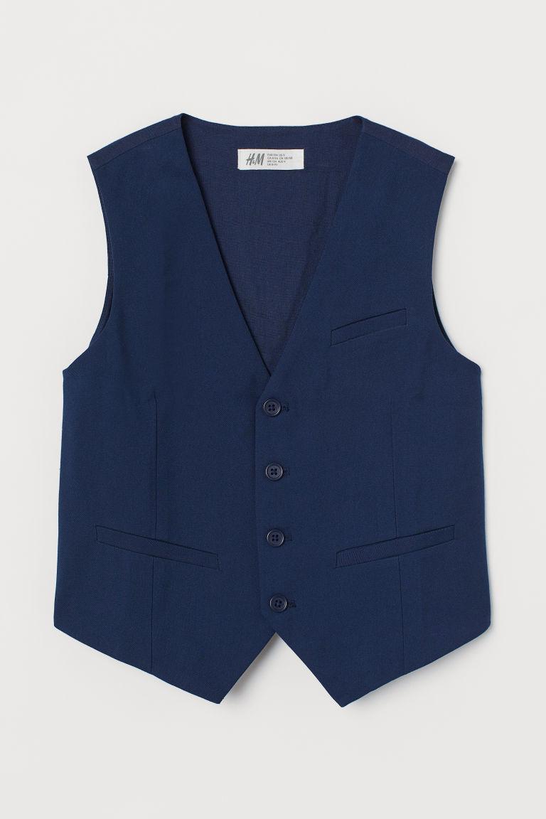 H & M - 西裝背心 - 藍色