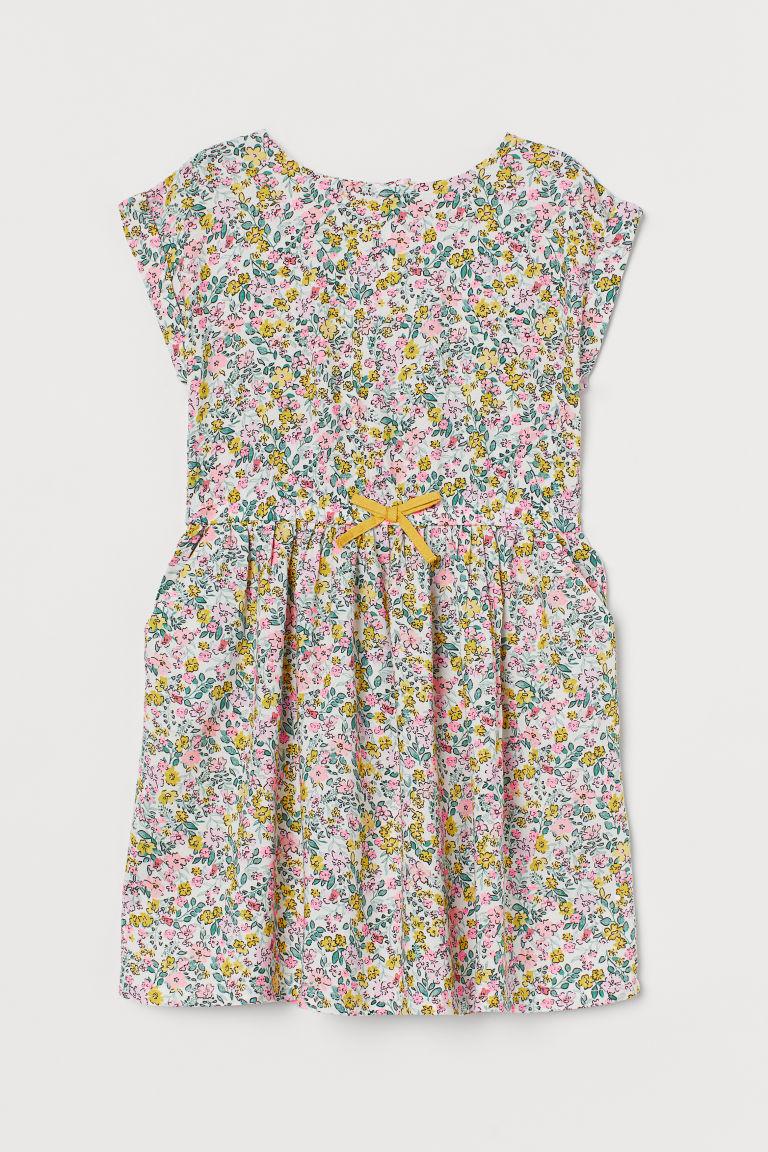 H & M - 印花洋裝 - 白色