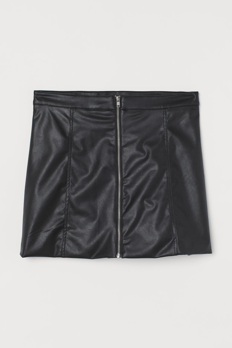 H & M - A字裙 - 黑色