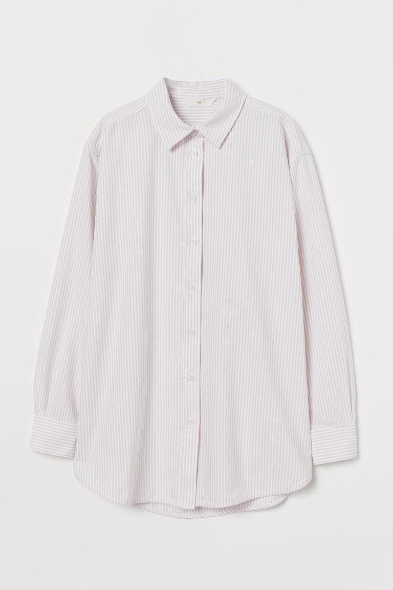 H & M - 加大碼牛津襯衫 - 橙色