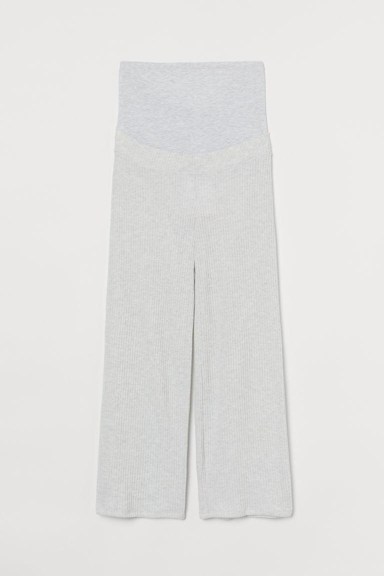 H & M - MAMA 羅紋長褲 - 灰色