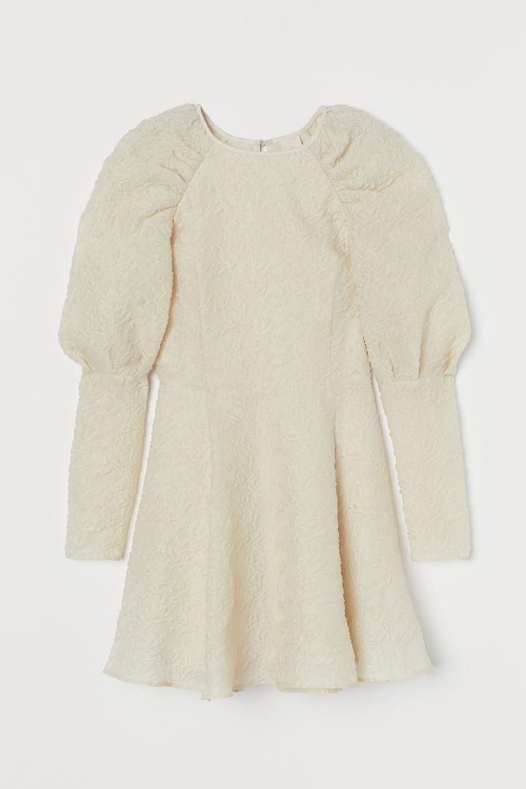 H & M - 公主袖洋裝 - 白色