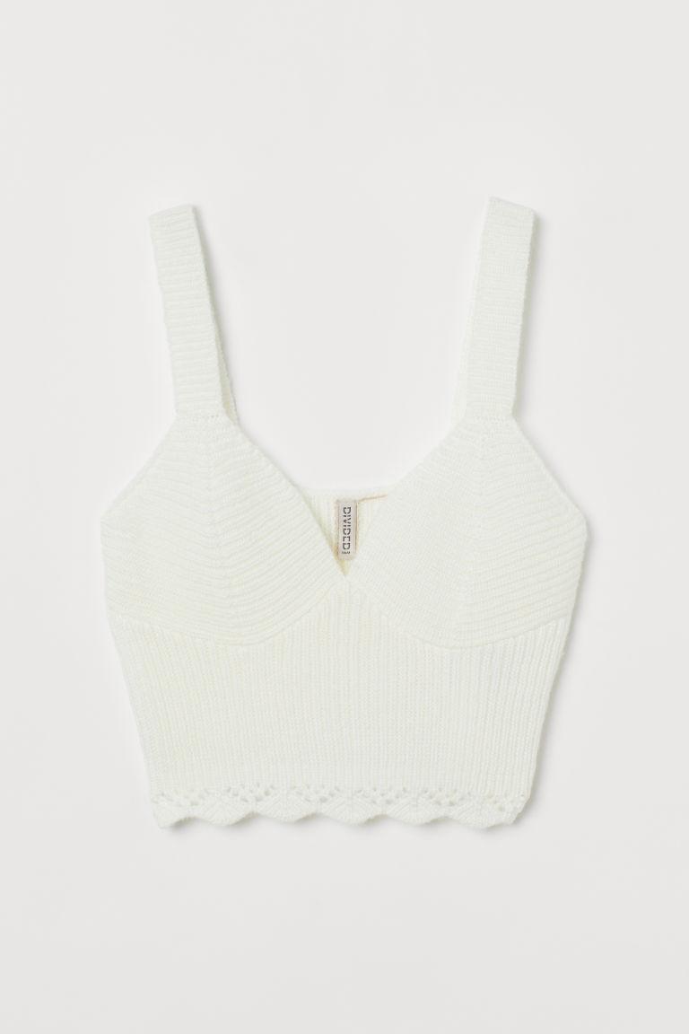 H & M - 針織小可愛內衣 - 白色