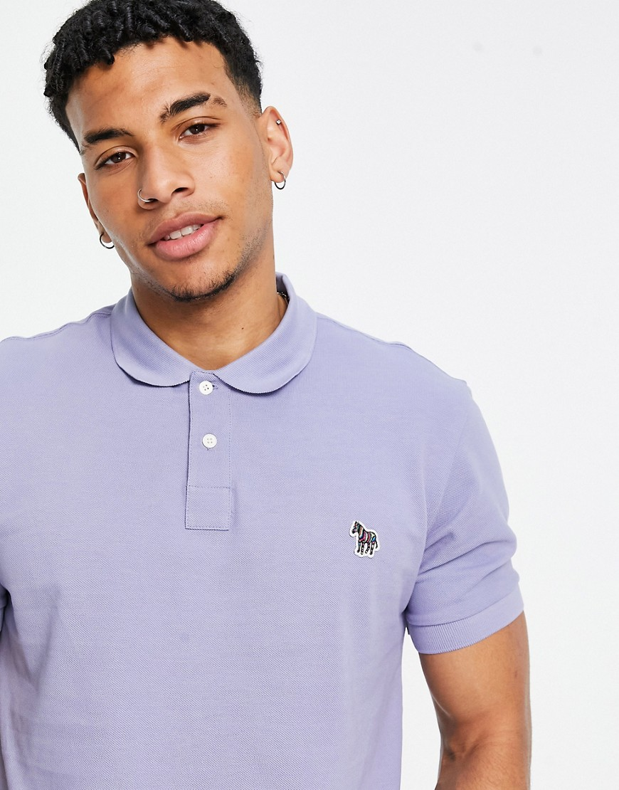 PS Paul Smith zebra logo polo in lilac-Purple