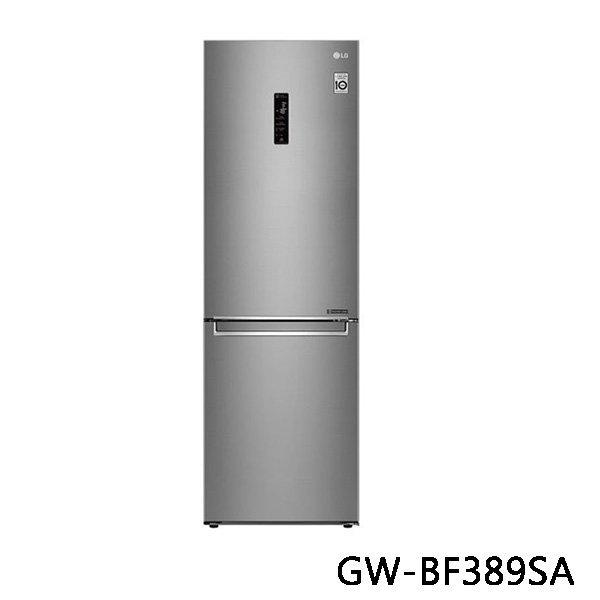 LG 樂金 WiFi直驅變頻上下門冰箱 GW-BF389SA 343L 晶鑽格紋銀 原廠保固 結帳更優惠 黑皮TIME
