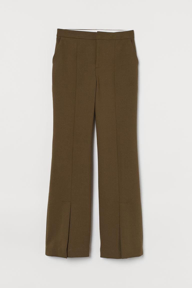 H & M - 喇叭褲 - 綠色
